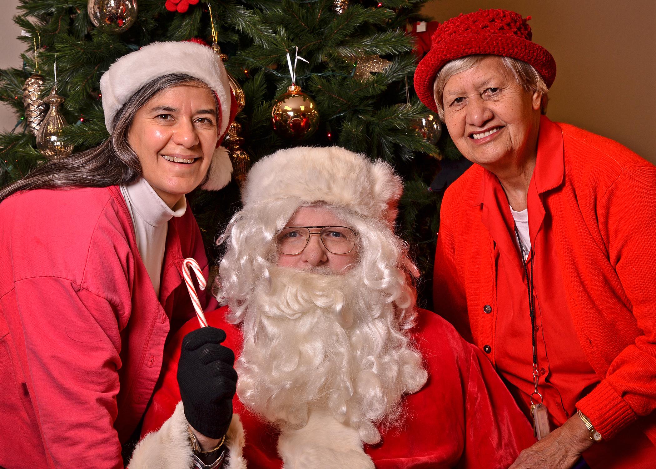 Jenny _ Sally with Santa.JPG