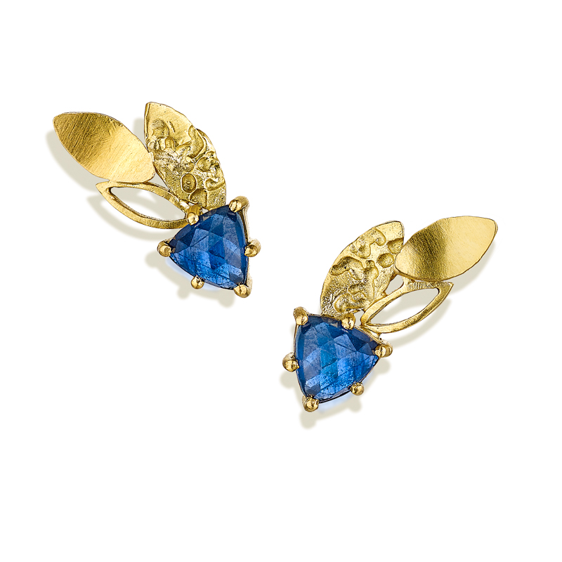 18ct gold sapphire earrings