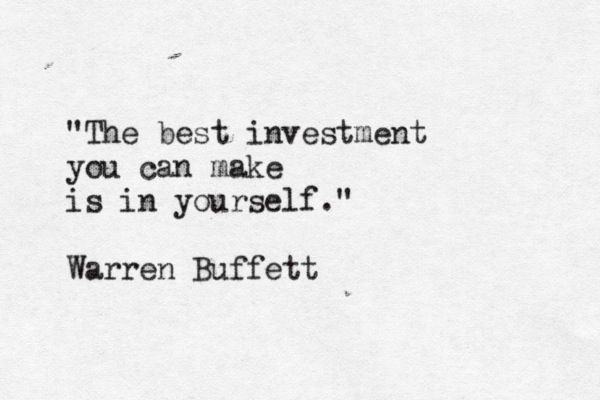 If the most successful investor in the world said so.... it's probably accurate.