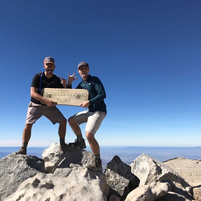 18 miles.  5,600ft gain.  11,503 ft summit.  8 hrs.  2 dudes.  1 party.  Great hike with Danimal up San Gorgonio aka Old Greyback, aka SoCal's highest peak.  Whats your favorite mountain?  Comment below!  #finalexpense #insurance #sangorgonio #socal #socalsixpack #danimal #braces #hike