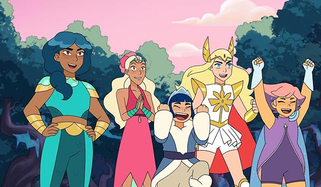 We watched @dreamworksshera on @Netflix this morning with our morning coffee and we are officially obsessed and planning all the Halloween costumes. #bythepowerofgrayskull