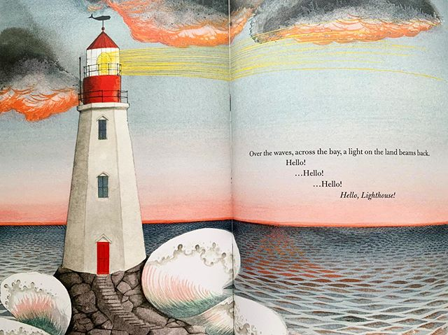 """Hello Lighthouse"" by @sophieblackall is sublime. #quickshoutout #kidlit #picturebook"