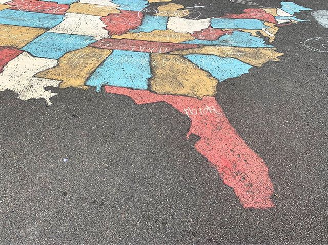 Sometimes Florida is the only state you see. Well, at least it was when we visited @norwalkgrassrootstennis! #50states #education #ct #fl