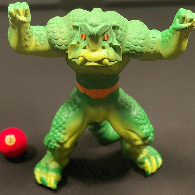 Going through @stoph's old toys in the basement of his mom's house and KRUSHER WINS!!! @mattel #80skid
