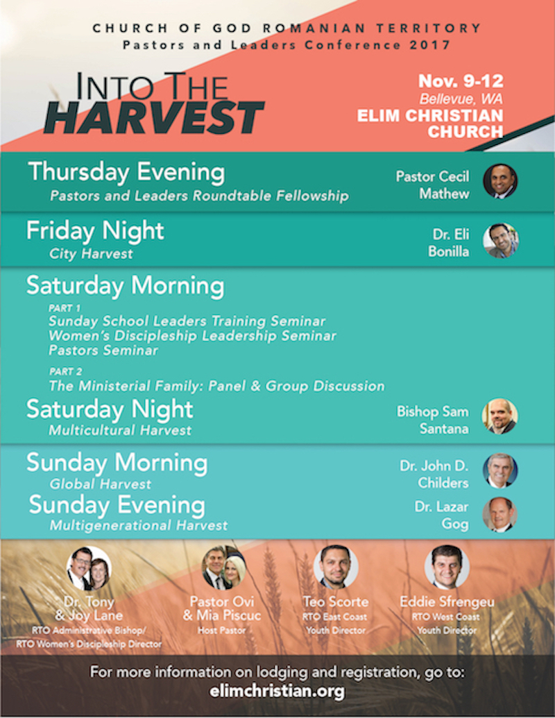 Join us for our annual Pastors and Leaders Conference - Download the high-res poster here