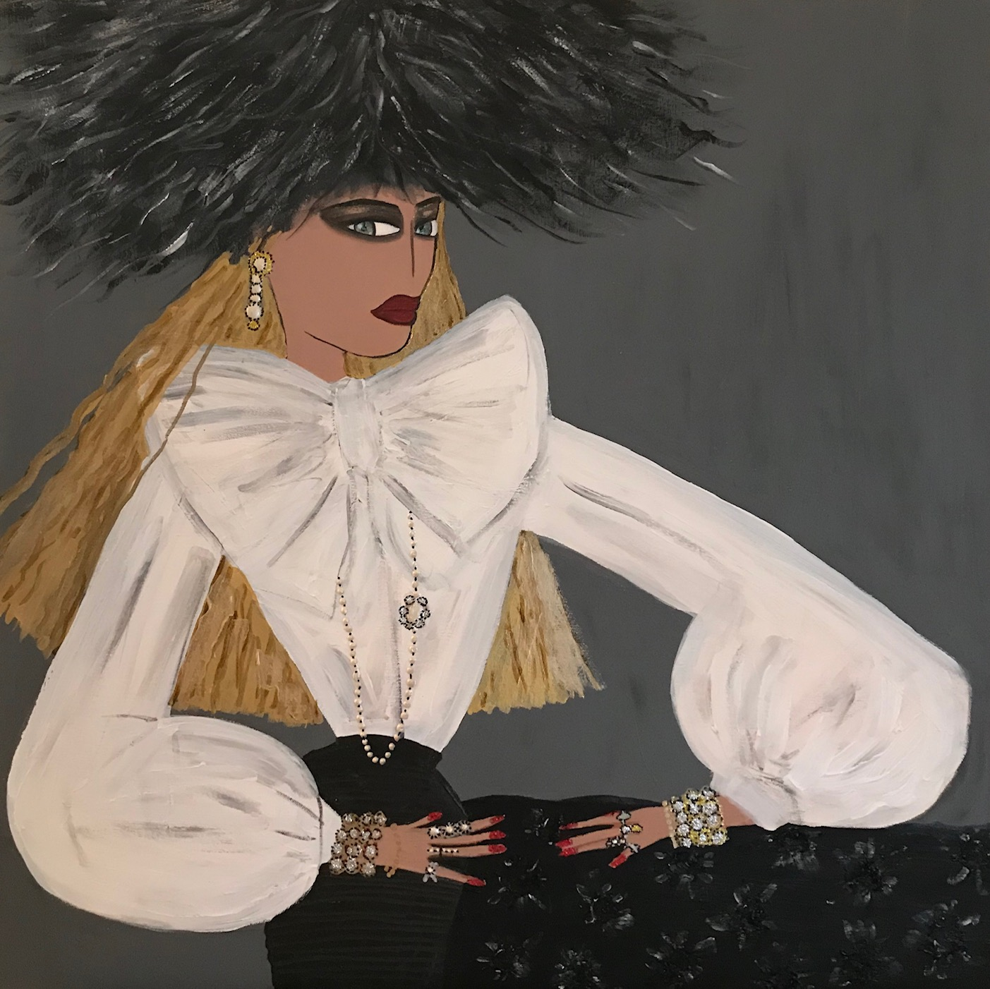 Girl With Feather Hat.JPG
