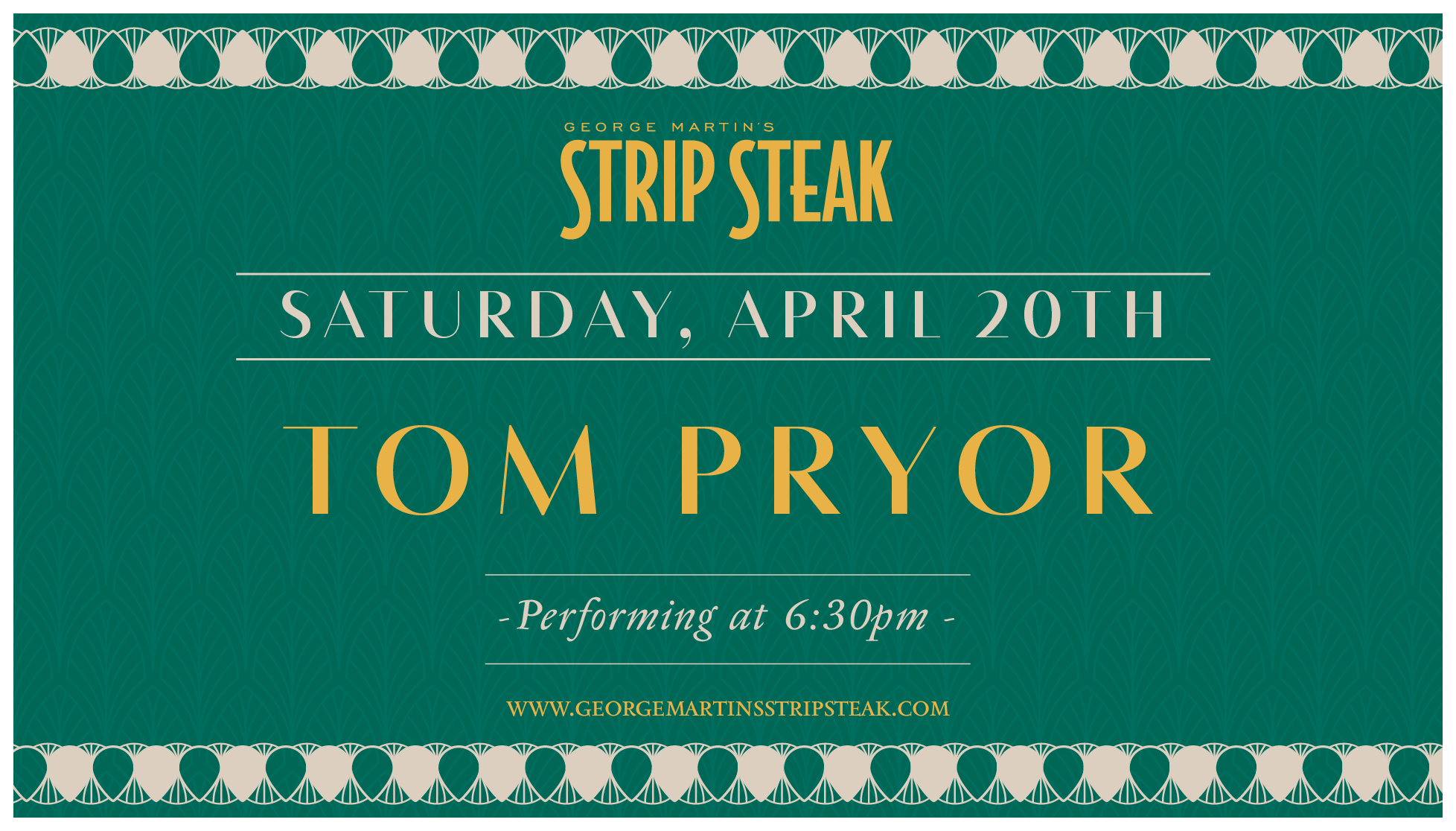 Tom Pryor Music Flyer