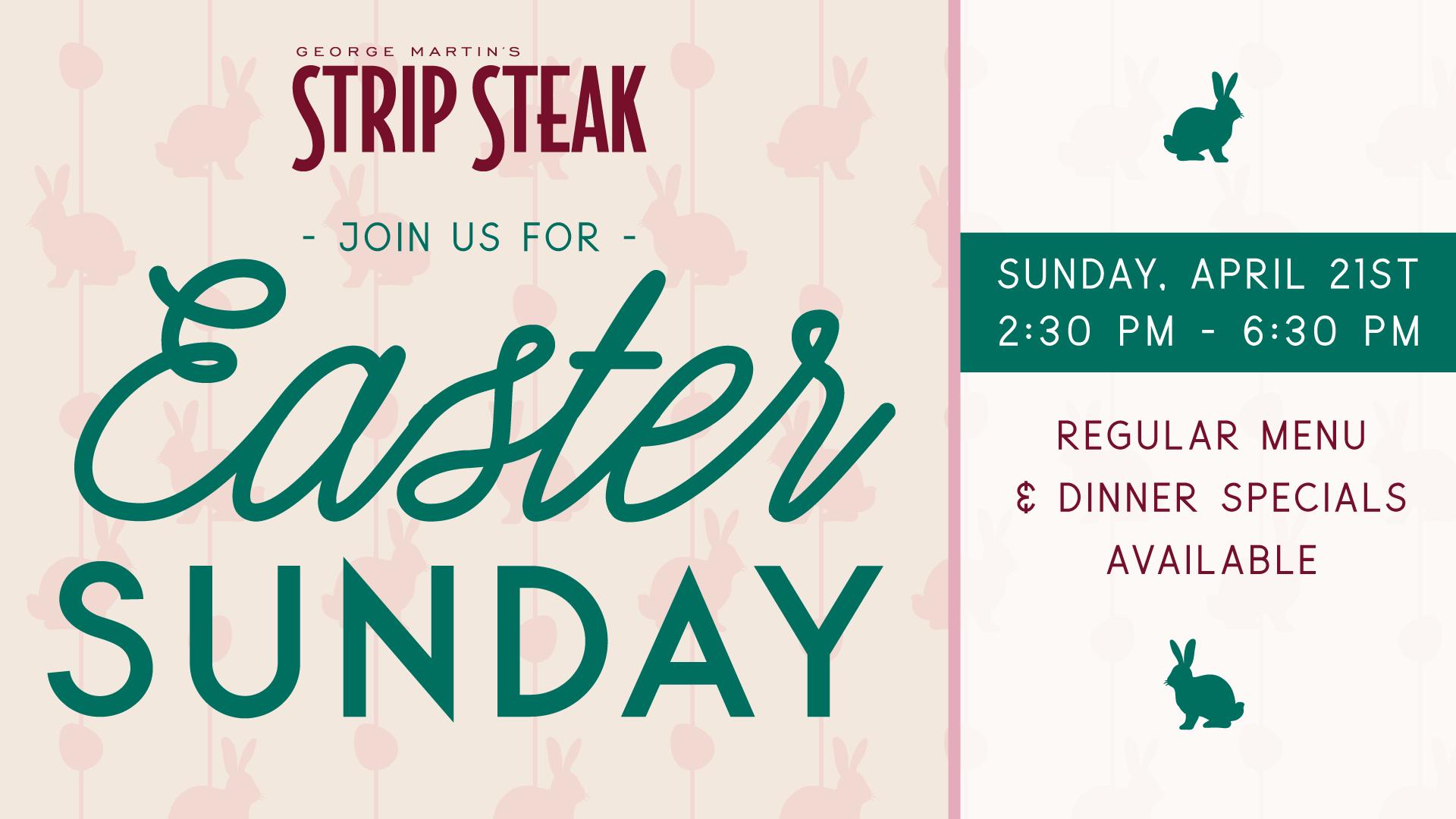 Easter Sunday at Strip Steak Flyer