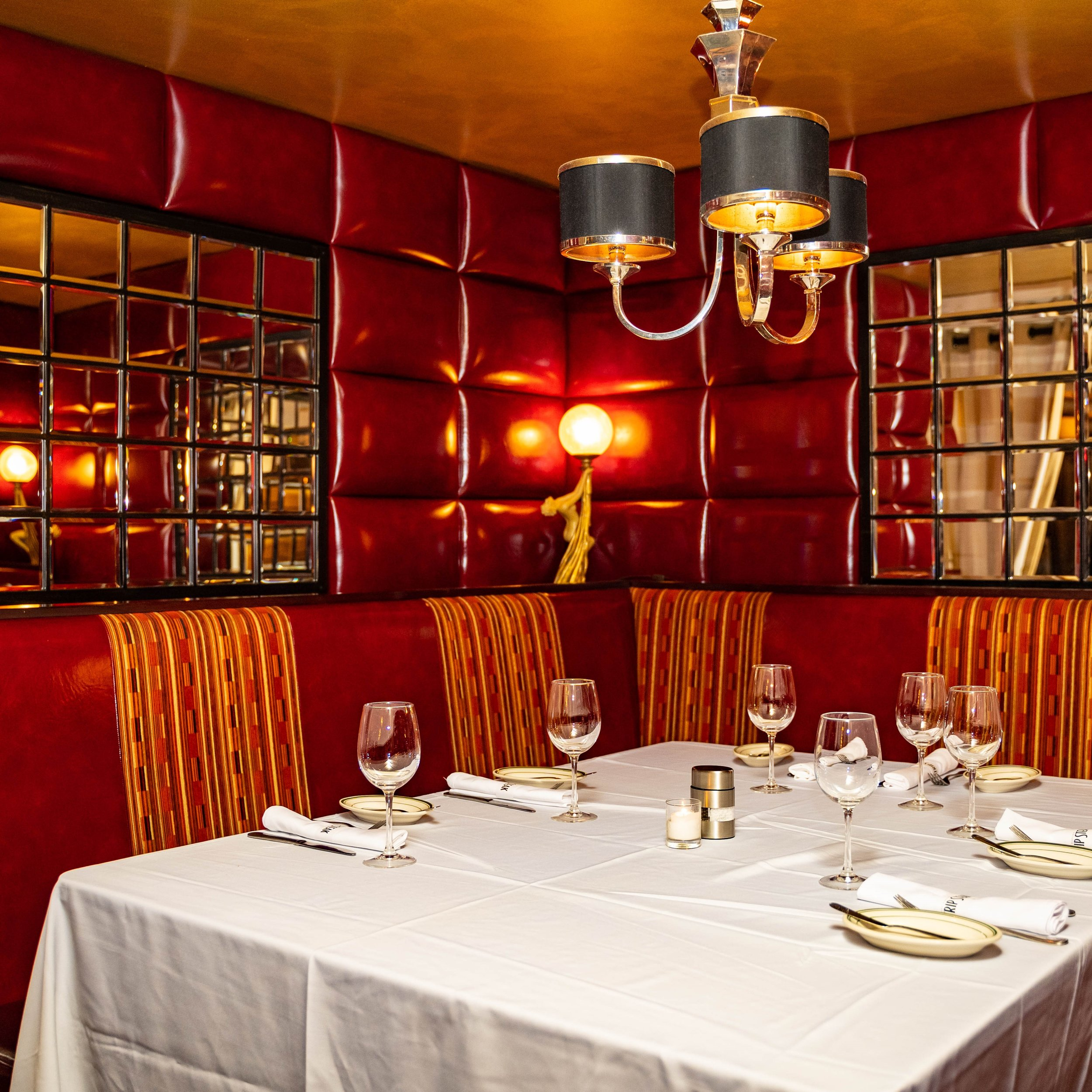 A photo of our Red Room dining space.
