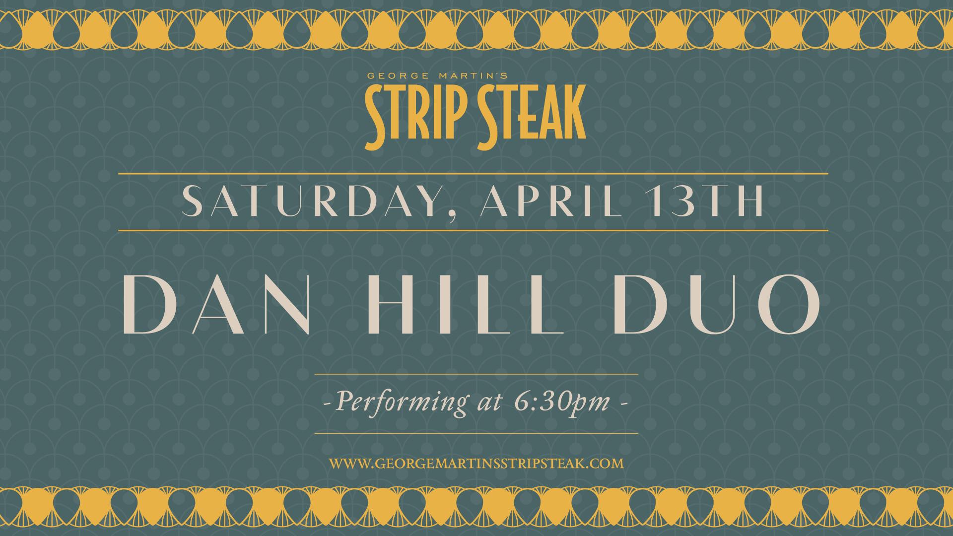Dan Hill Duo Music Flyer