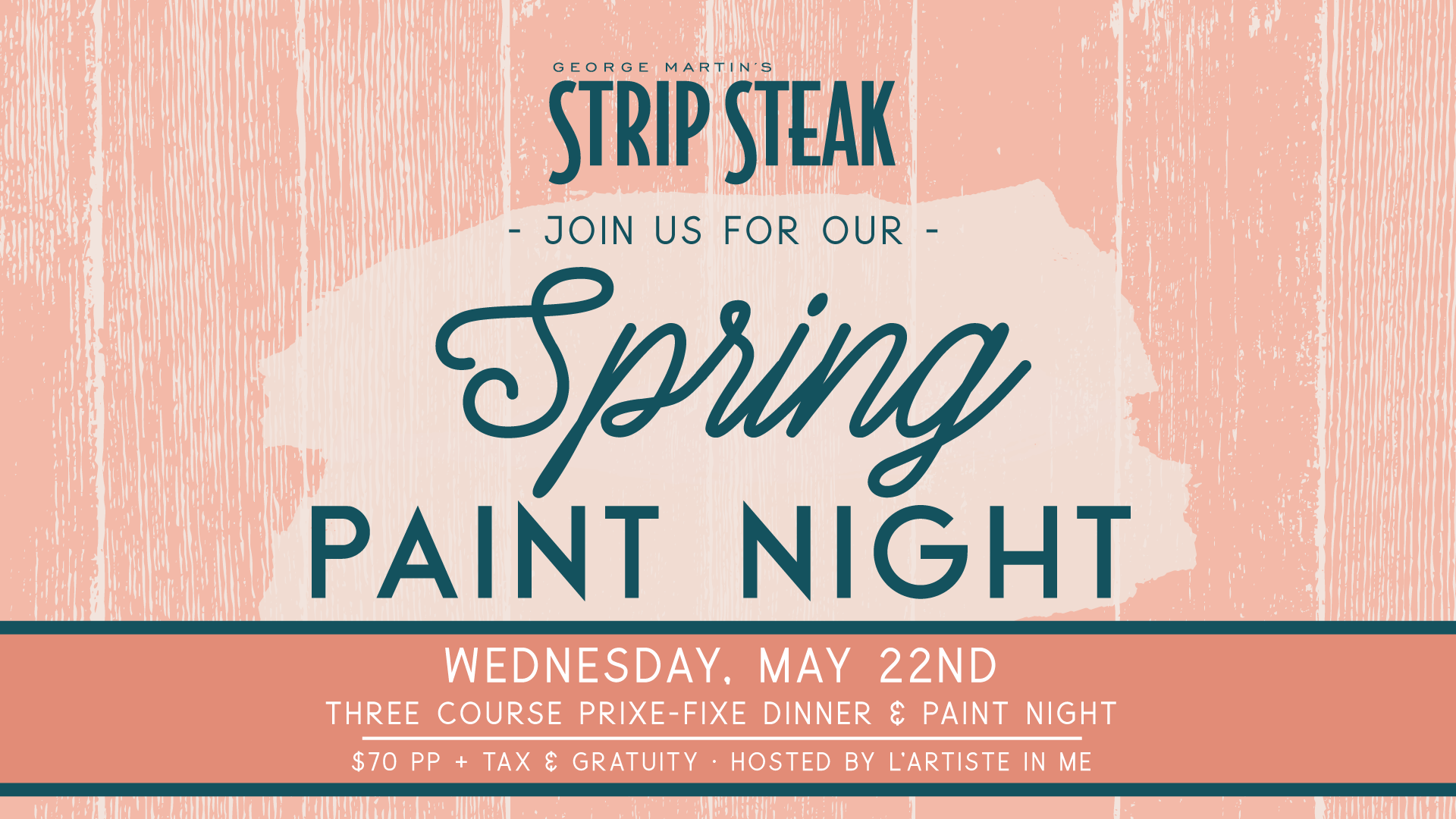 Flyer for Spring Paint Night on Wednesday, May 22nd