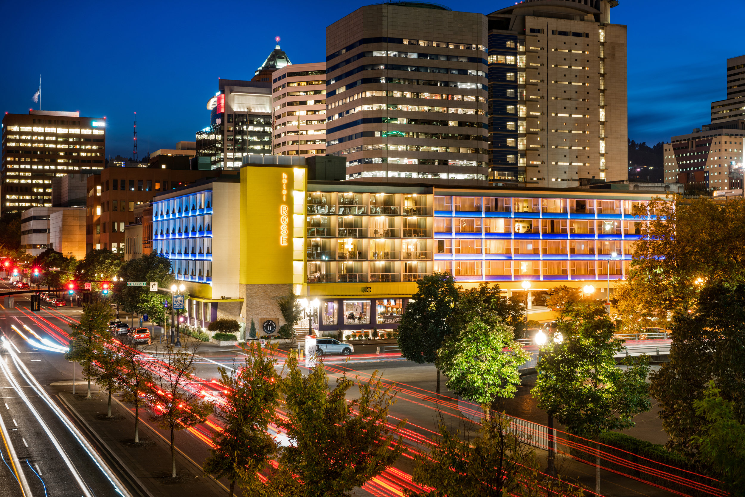 Hotel Rose-Exteriors-Hotel Front Evening.jpg