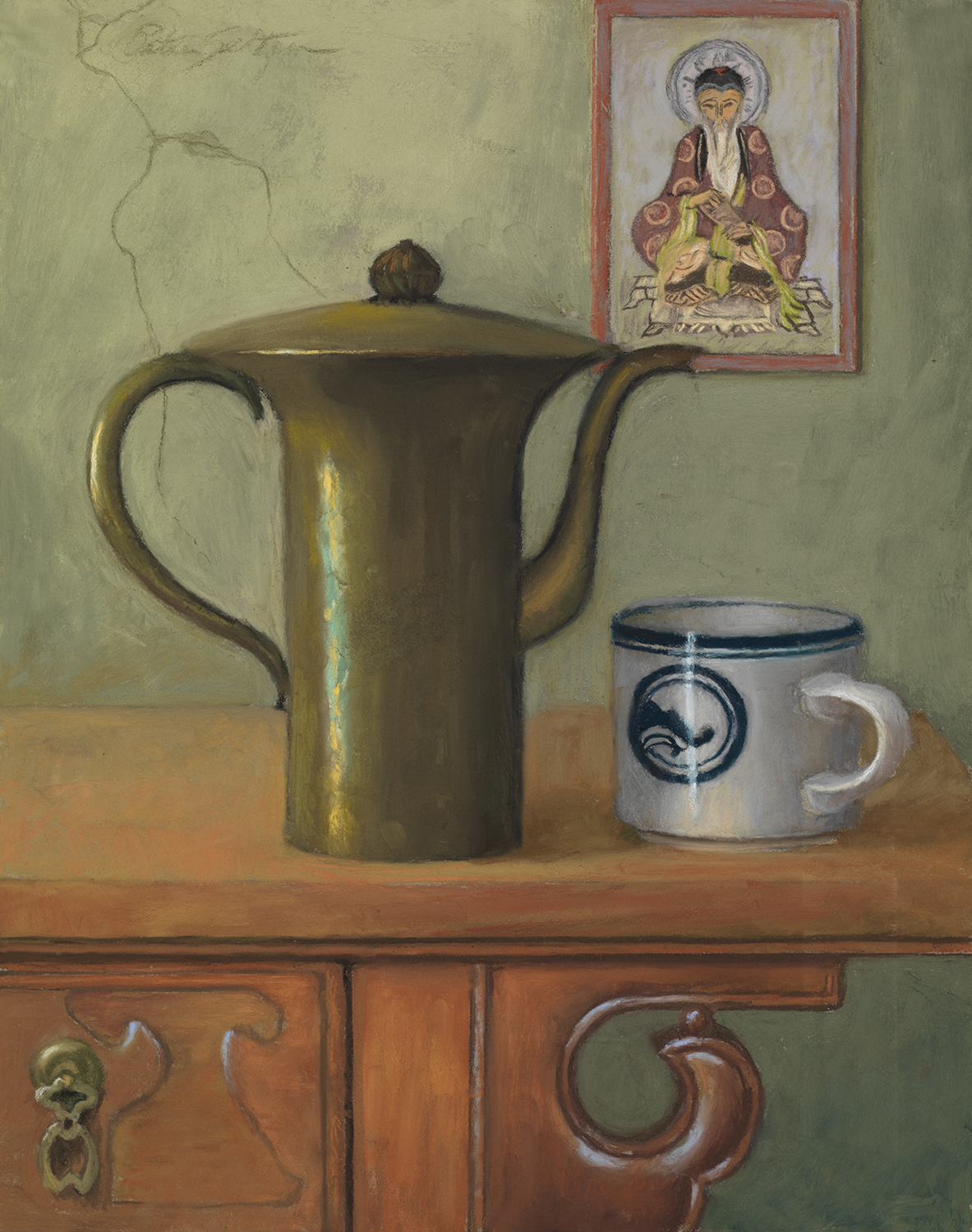 Peter Seltzer,  Tea for Tzu , 14 x 11 inches, unframed. (Part of NHPCC's Permanent Collection)