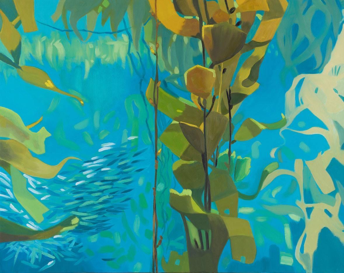 Laura Barr,  Ocean Elegy 18 , oil on canvas, 38 x 48 in., 2019