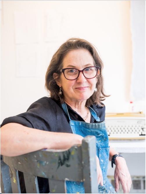 Sharon Butler at Yaddo, 2018  photographed by Elisabeth Haynes.
