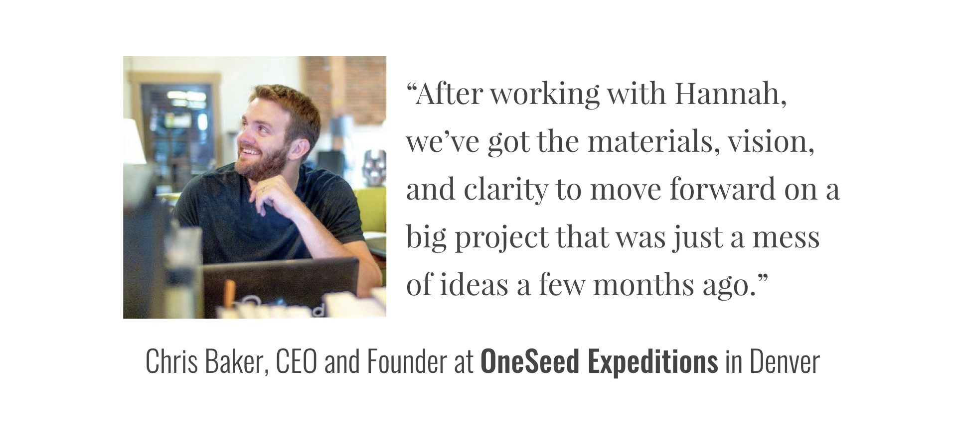 Copy of OneSeed Expedition's Testimonial