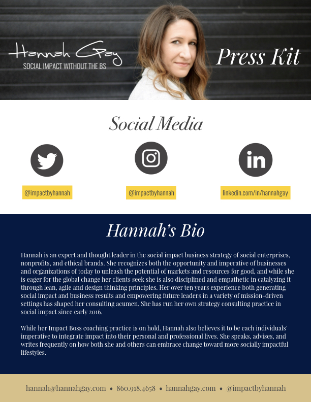 Press Kit - If you are interested in booking me for speaking, interviews, or guest contributions, download my press kit.