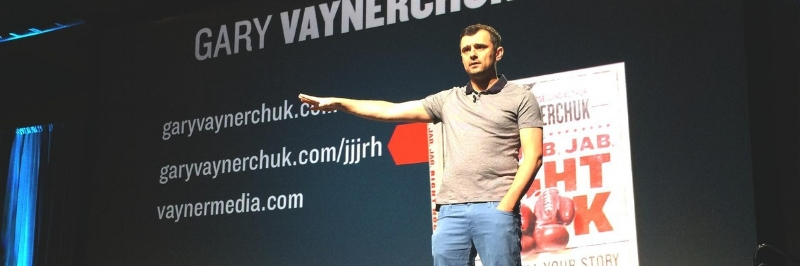 Gary Vaynerchuck is awesome at getting his message in front of his audience...