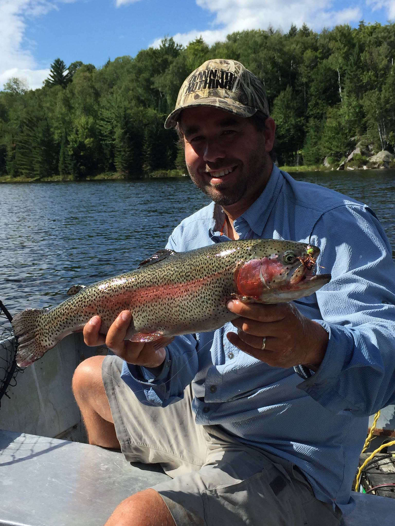 Trout- Fish for rainbow, speckled or lake trout. From late April until the late fall and through the ice!