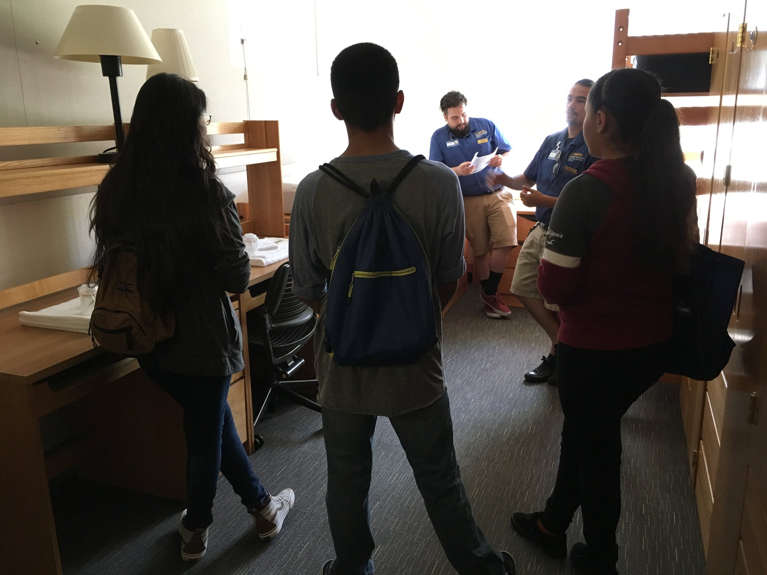 Visiting a dorm room in Tercero.