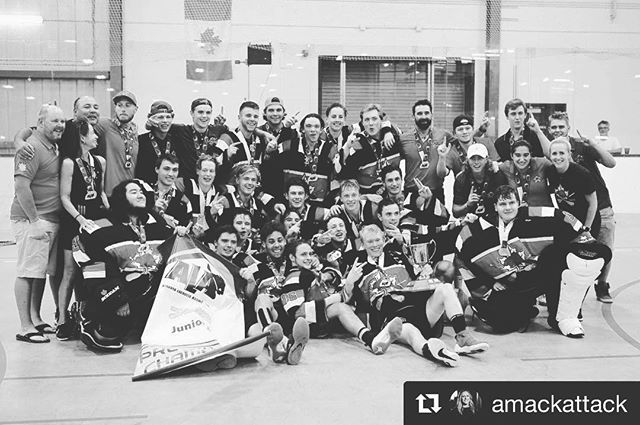 #Repost @amackattack 💪🏼🙌🏼. . Congrats to this group of warriors on their back to back RMLL Jr. A Championship title! Minto here we come! . . . Catch the @raidersjralax in action this week Thursday, Friday and Saturday at 8 PM at Max Bell Arena! #redordead #raidernation #jralacrosse #okotoksraiders #lacrosse #mintocupchamps #mintocup2018 📷: @gordonnorrie