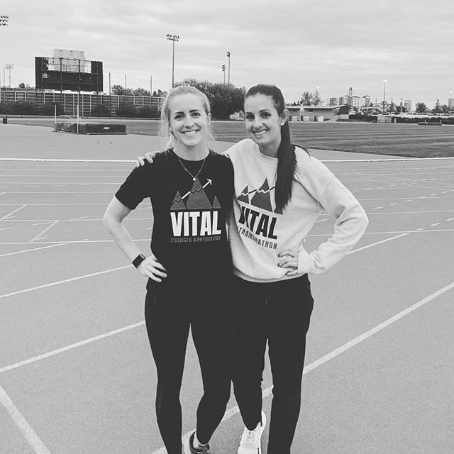 Will run for @vitalstrengthphysiology 🍪... . . #tbt to Wednesday Night Track sessions with @carlaesprit of @vitalstrengthphysiology 👟 🏔. . . Thank you Carla for the amazing 12 week program tapping into fundamental track drills, running technique, speed development and of course those killer endurance workouts 🤢! Until next summer! . . #trackandfield #coalitioncalgary #vitalstrengthandphysiology