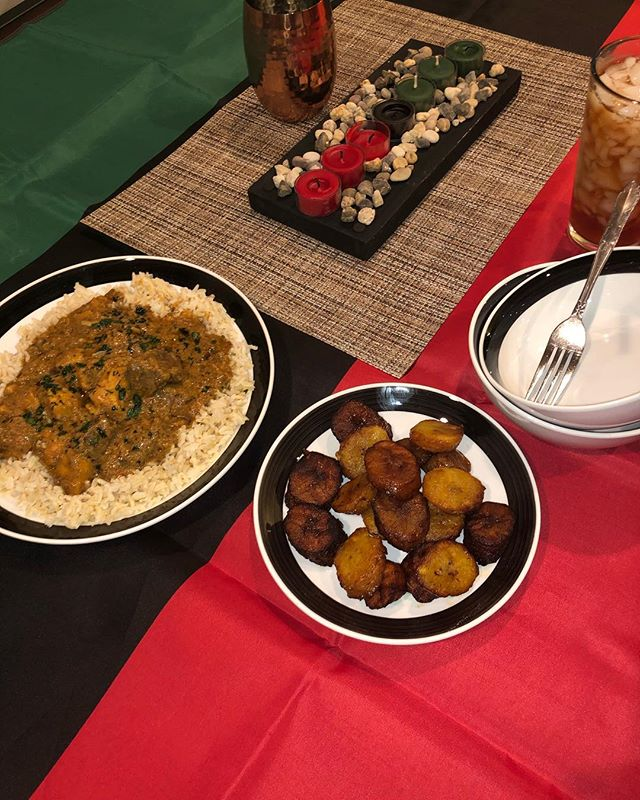 ❤️🖤💚 #kwanzaa #kuumba #maafe #plantains #feast #kahari #kahariheritage #legacy #heritage #africanheritage #panafricanism #culture