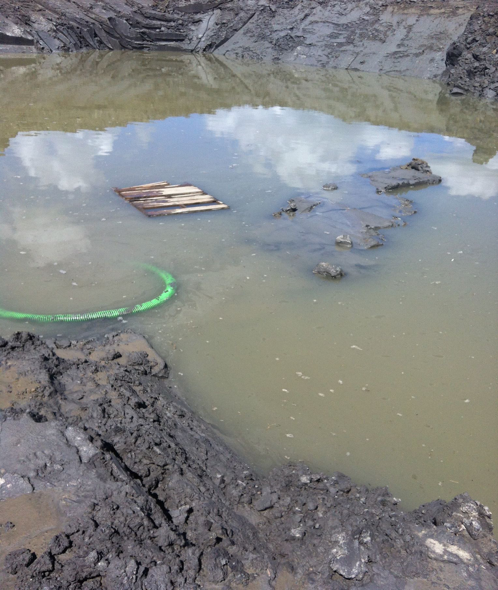 The ditch is where the pipeline is lowered and buried.