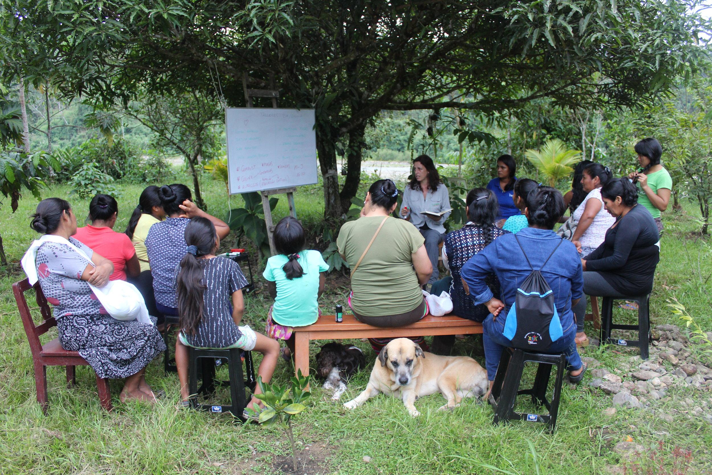 A bio-garden workshop. Photo credit: Kristi Foster.