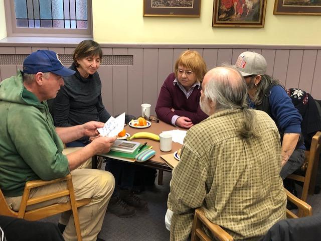 Pete, Susan, Nancy, Bruce and Kym at a Declaration workshop, January 2019