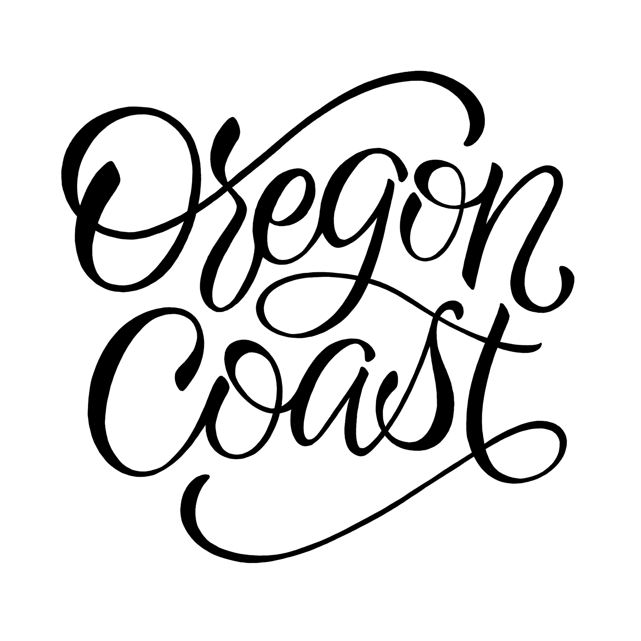 Oregon Coast lettering