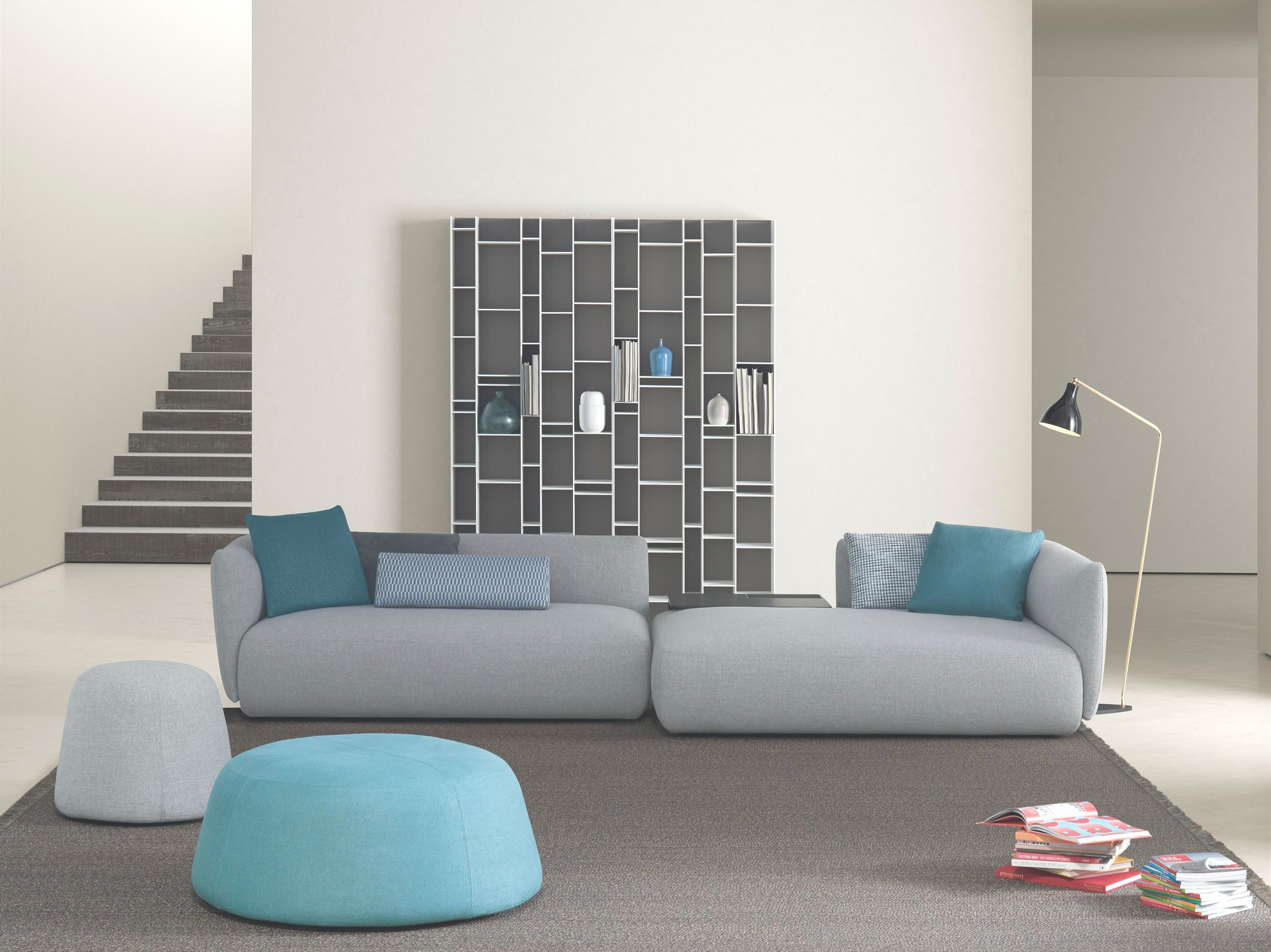 Living room - sofas - Wall units and bookcases