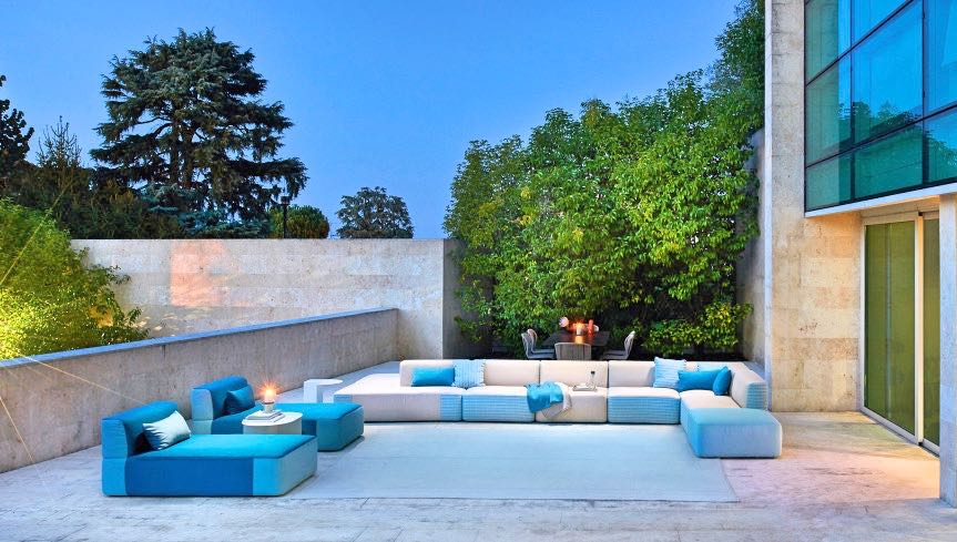 Outdoor sofas - sunbeds -  coffee tables