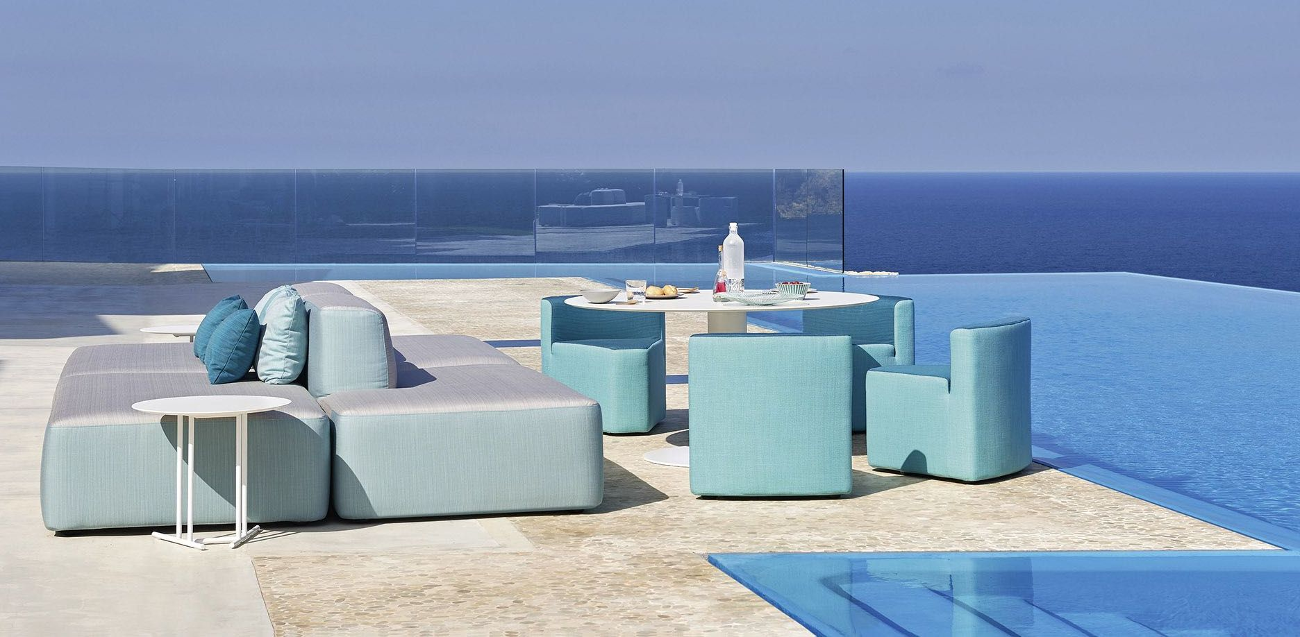 Outdoor sofas - dining armchairs - tables - coffee tables