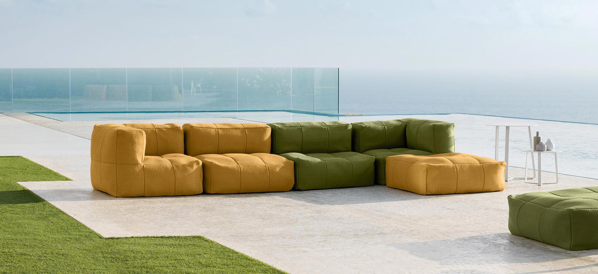 Outdoor sofas - armchairs - ottomans - stools