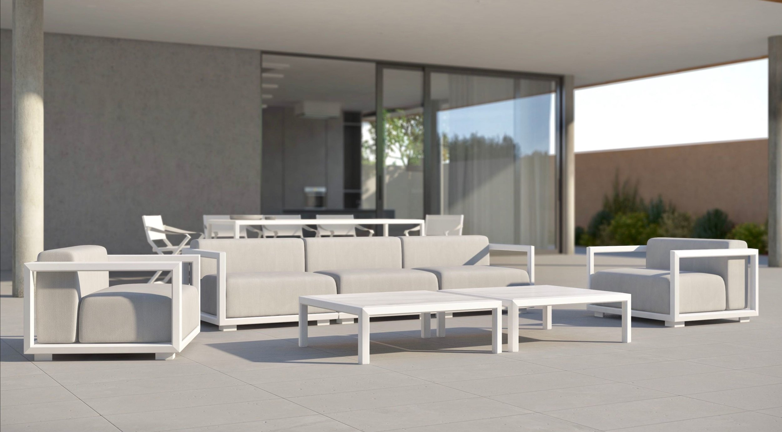 Outdoor sofas - armchairs - tables - chairs - coffee tables