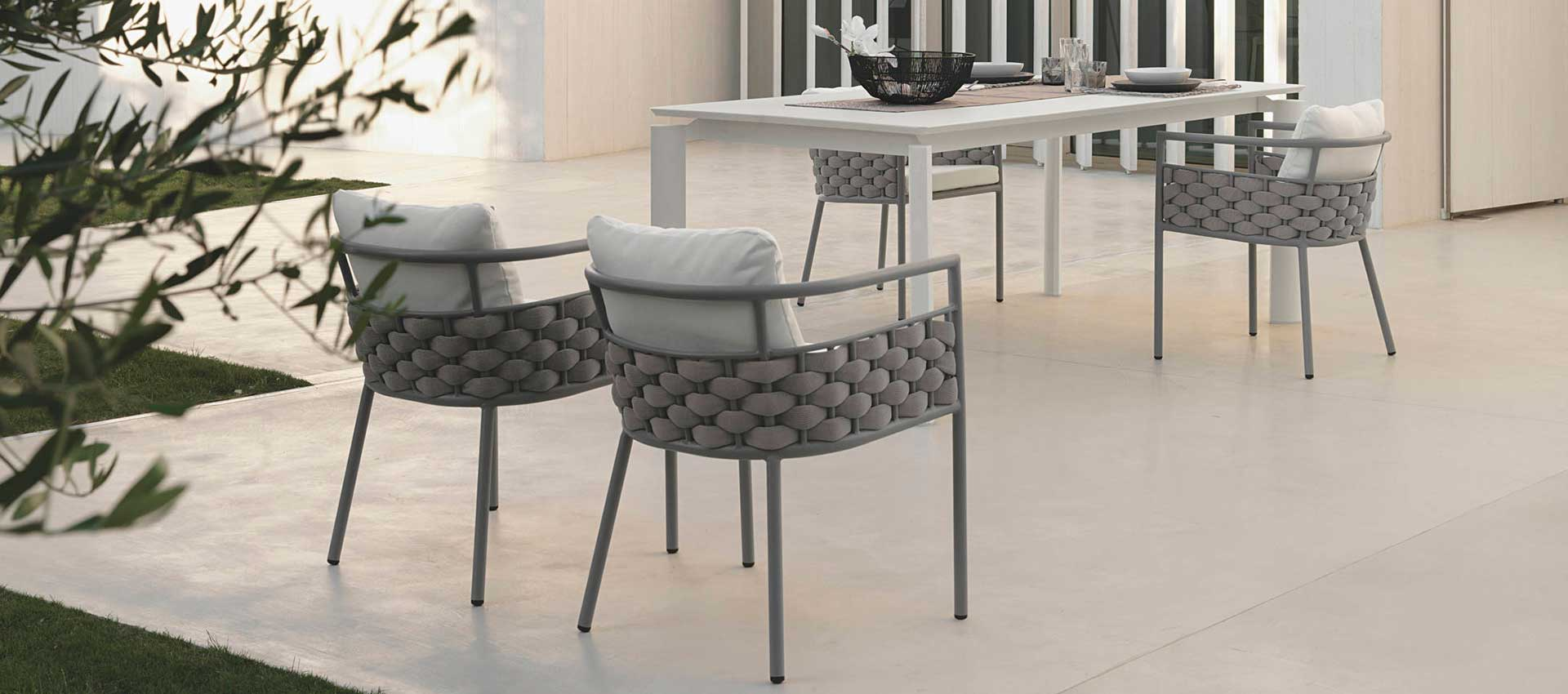 Outdoor - tables - dining armchairs