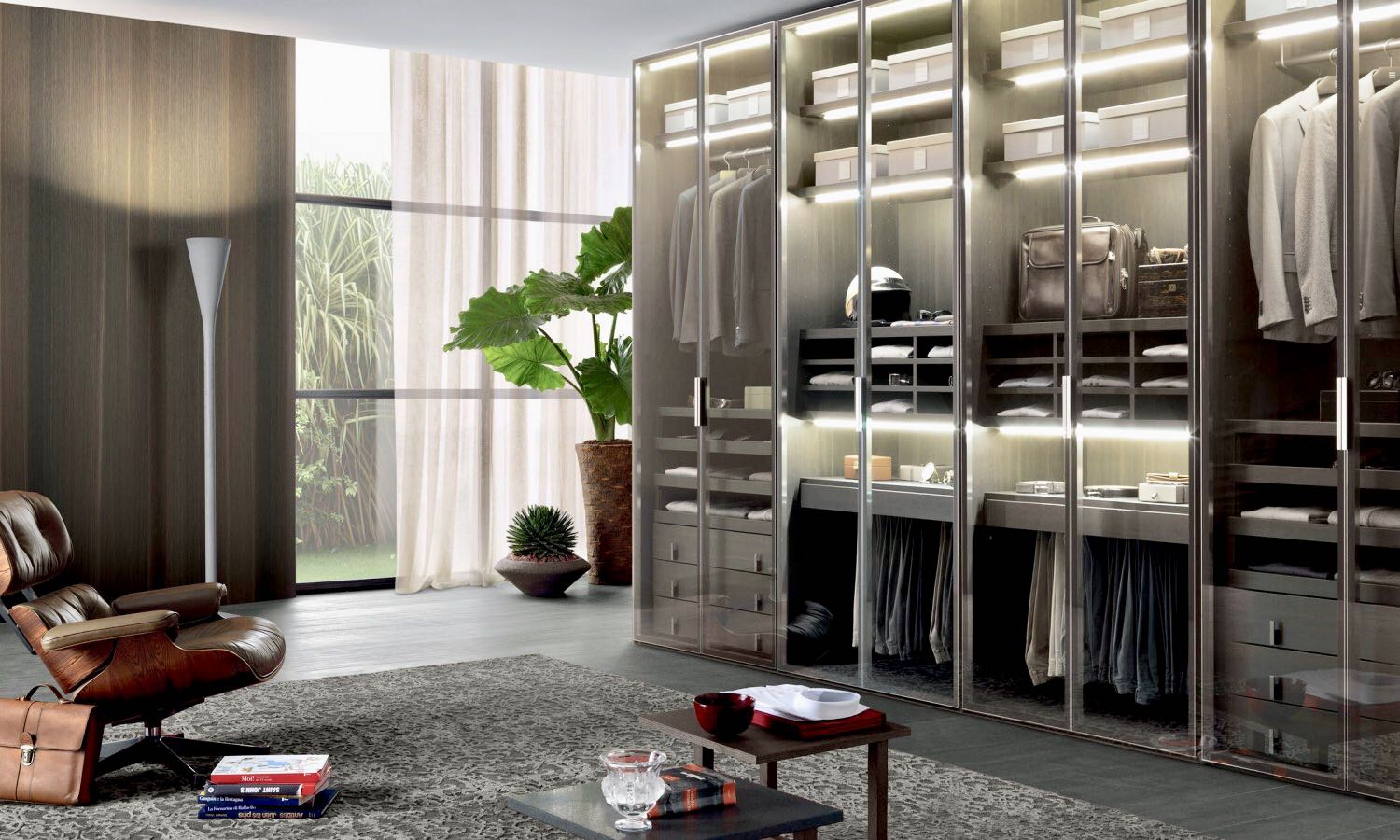 Bedroom - walk in closets - armchairs