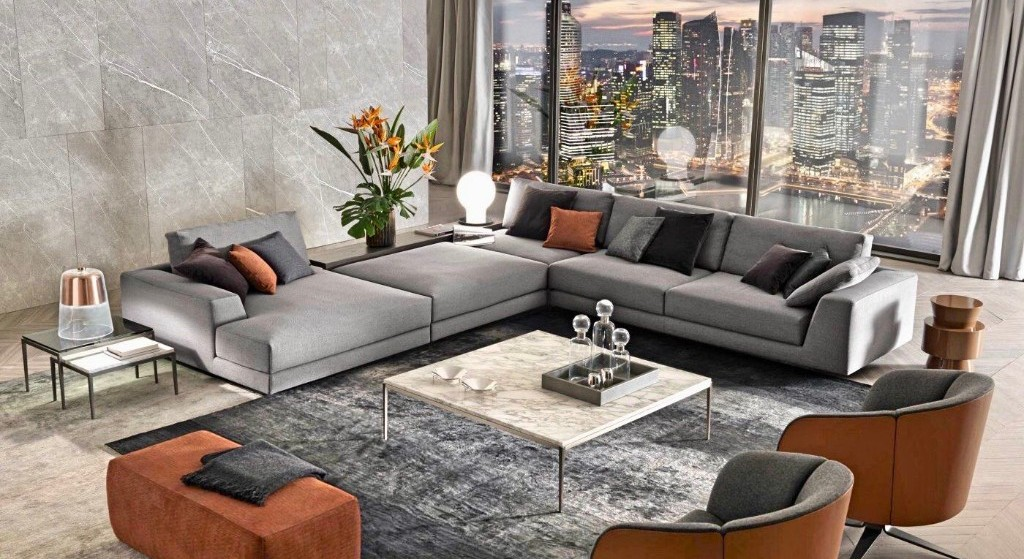 Living room Sofas - Armchairs - coffee tables - ottomans - Table lamps