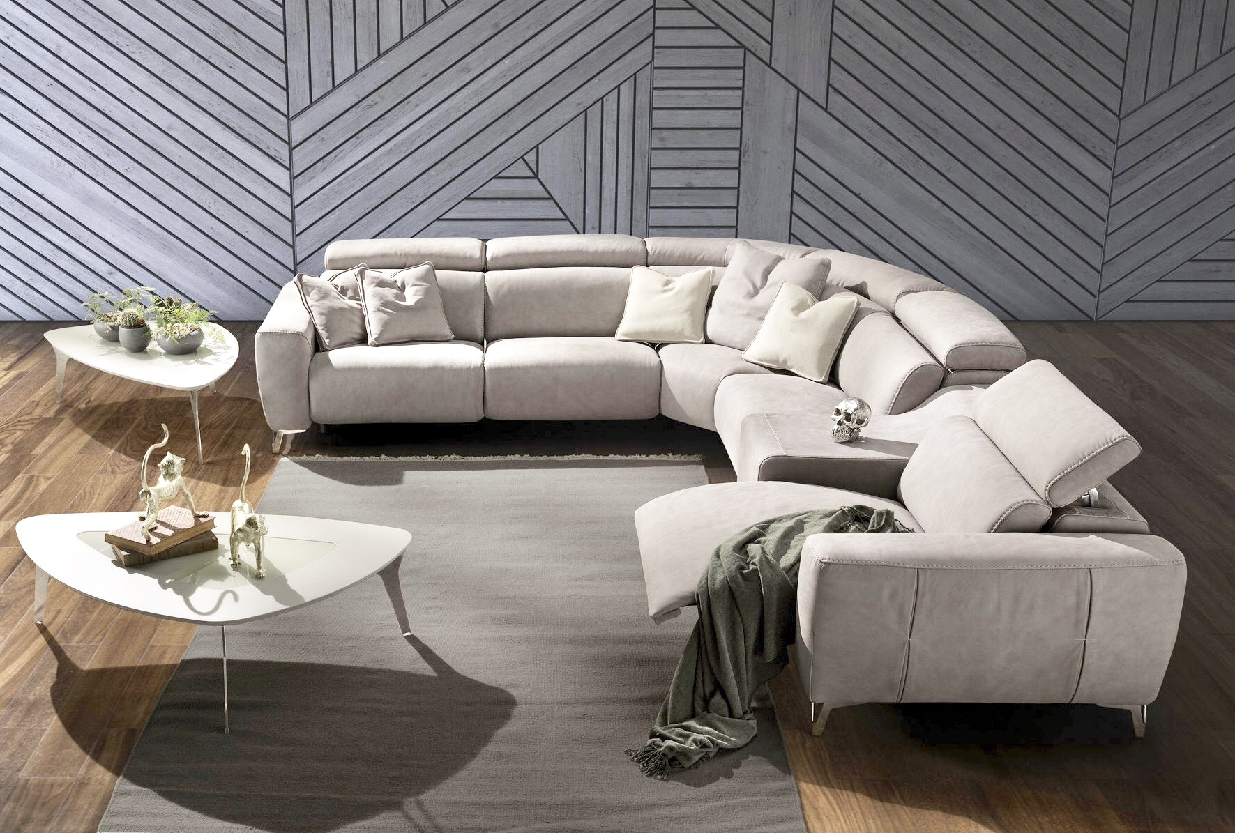 Living room - sofas with motion - coffee tables