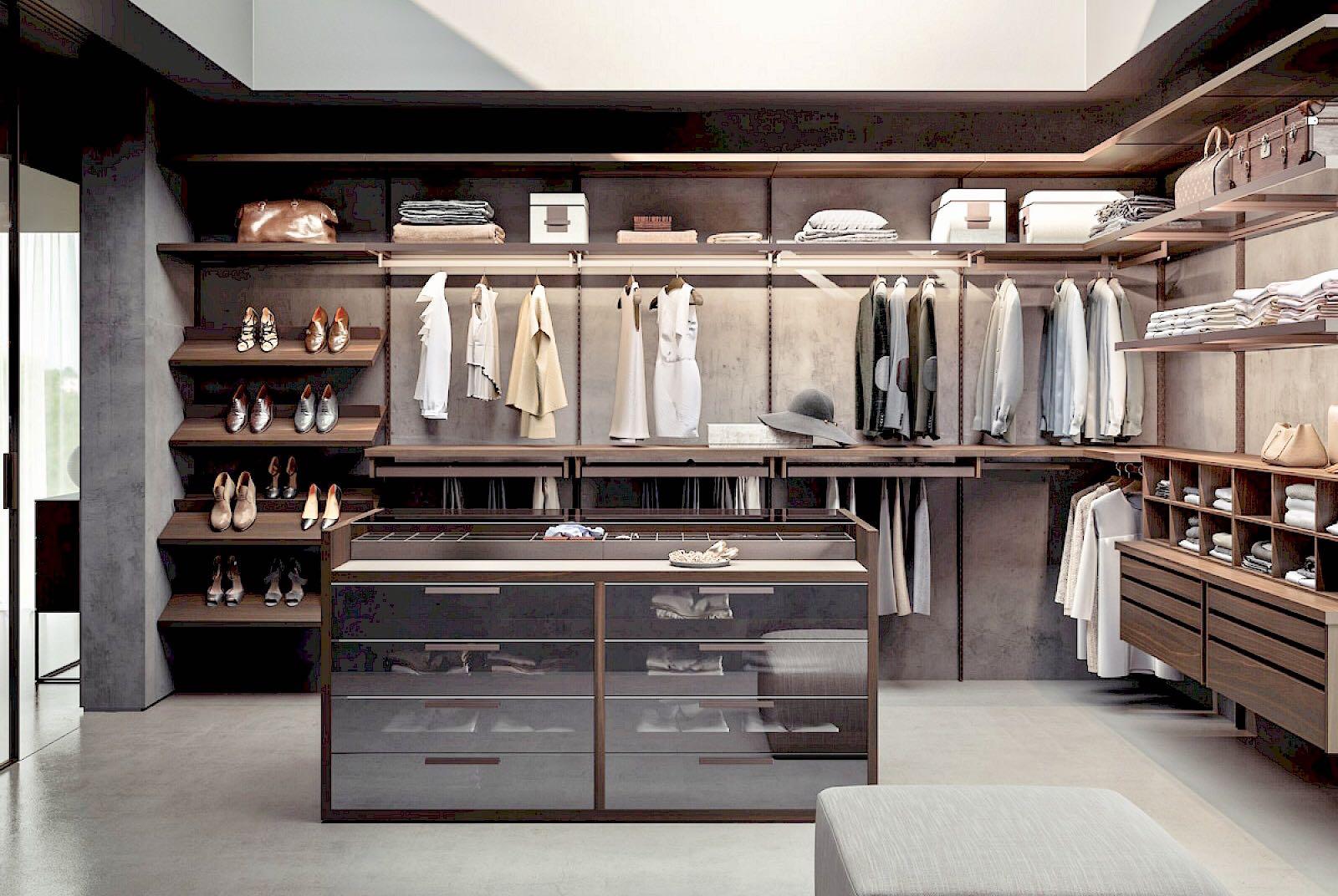 bedroom - walk in closets
