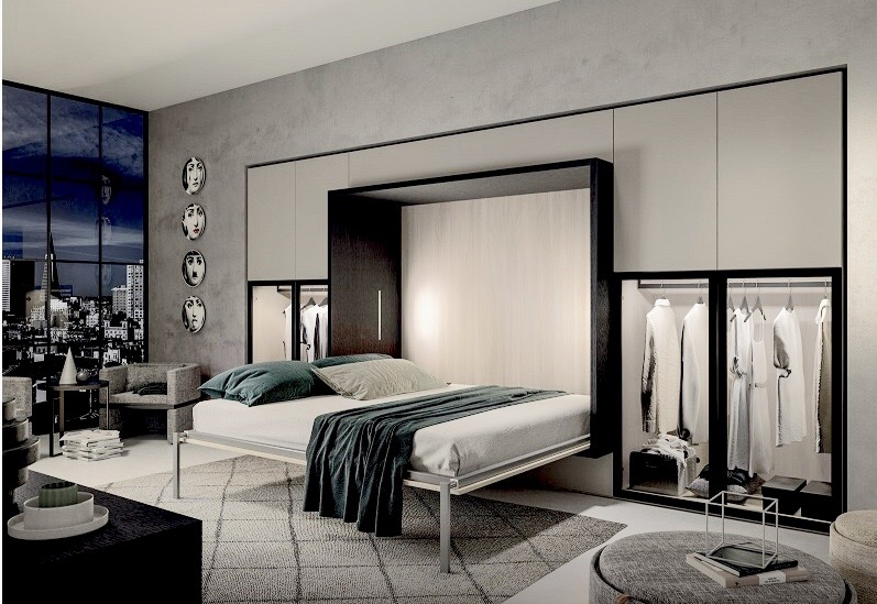 Bedroom - wallbed - wardrobes - armchair