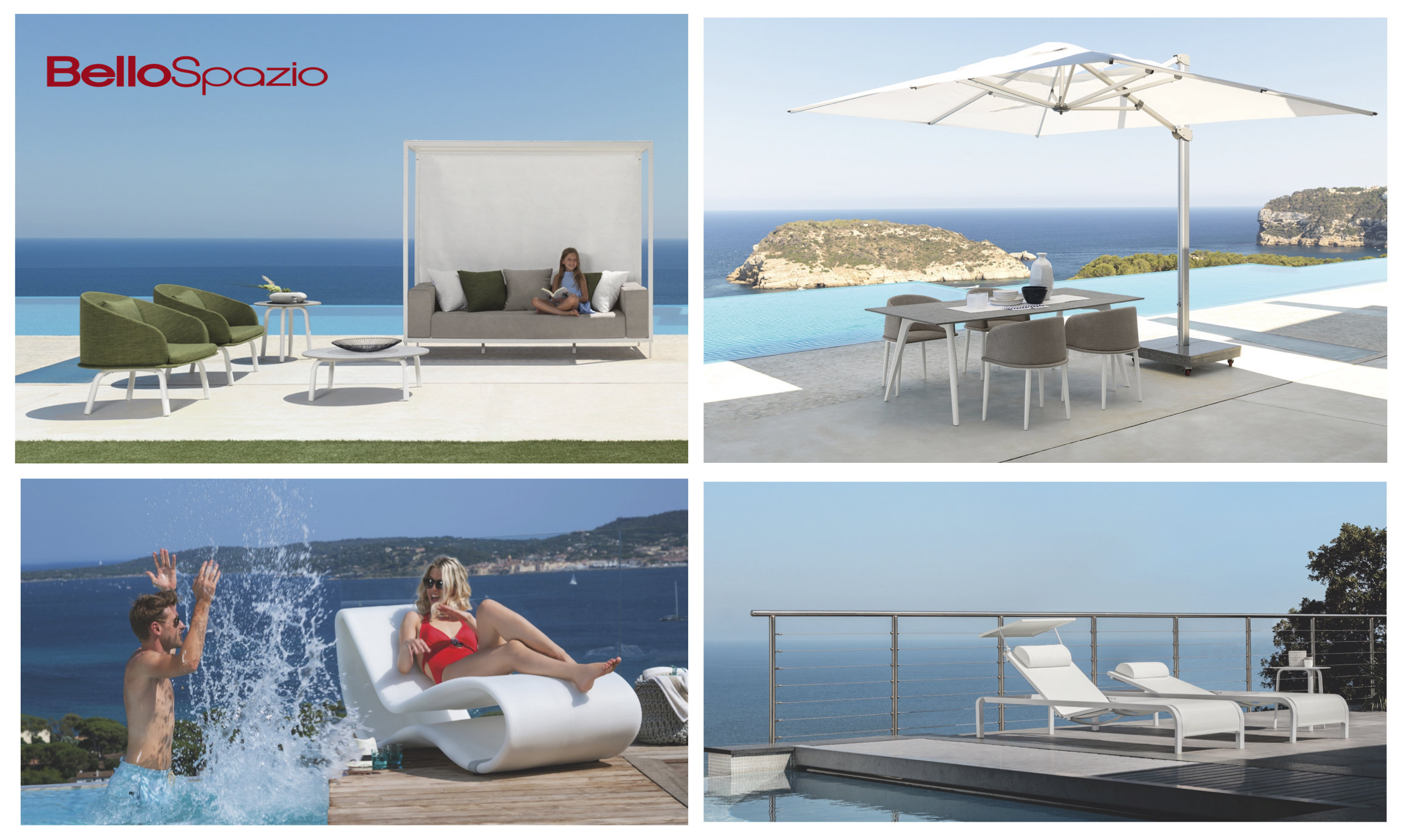 Outdoor Sofas - coffee tables - Armchairs - Umbrellas - Sunbeds