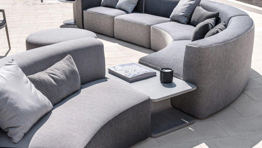 Outdoor Sofa - ottomans - end tables