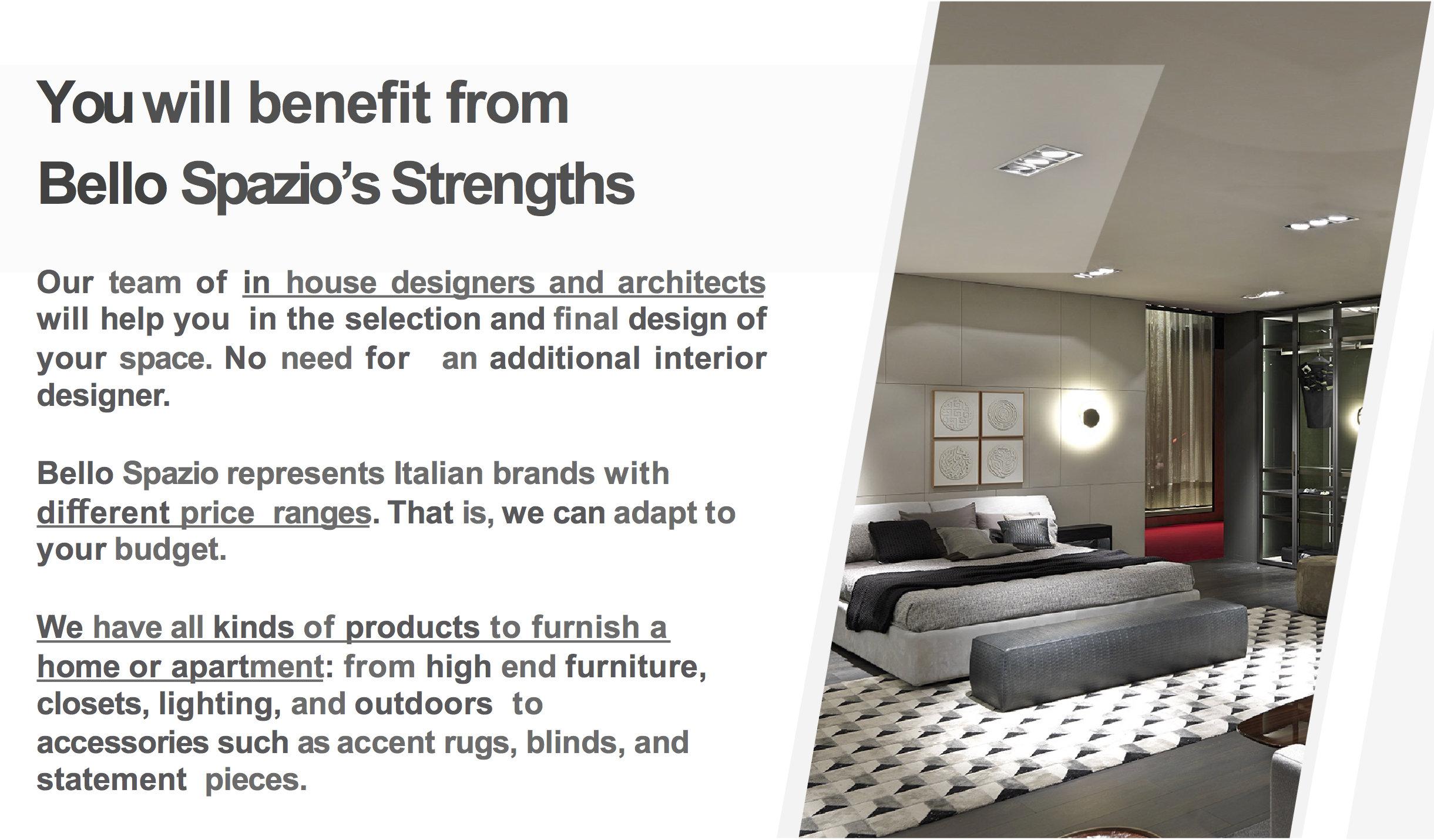 Benefit from Bello Spazio