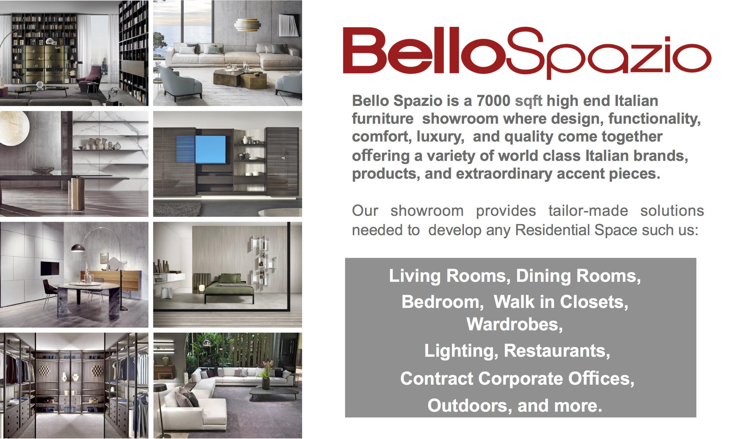 Showroom of Bello Spazio