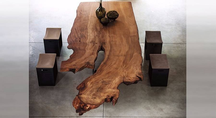 Wood Table and stools