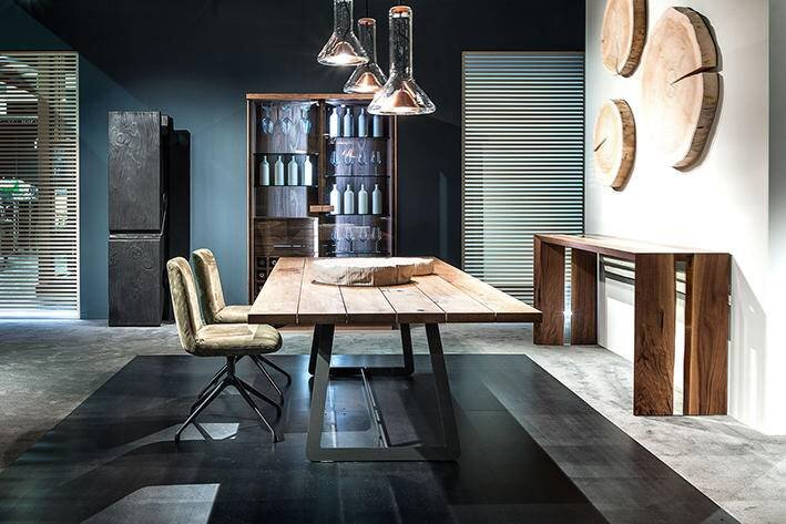 Wood table - dining chair - sideboard