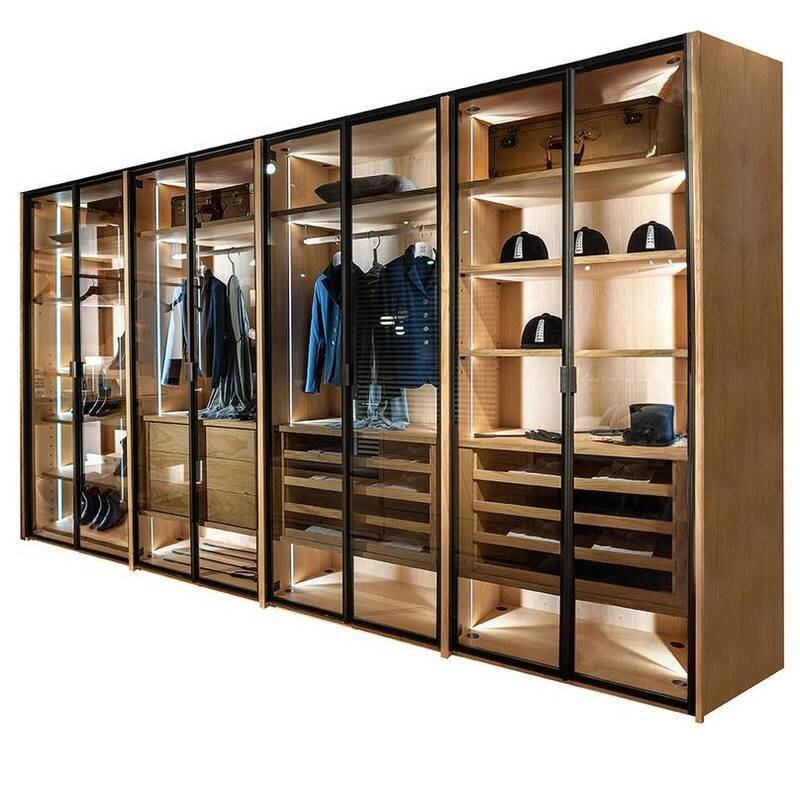 Wood walk in Closet