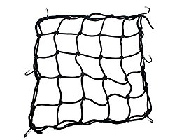 Bungee Net  This will add an extra element of luggage security and will keep any attachments to your bike gear from bouncing around.